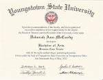 YSU Diploma - Summa Cum Laude
